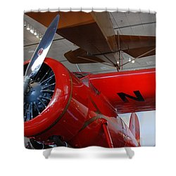 Amelia Earhart Prop Plane Shower Curtain