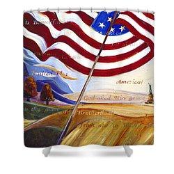America Shower Curtain by Jen Norton