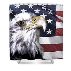 America Shower Curtain by Linda Blair