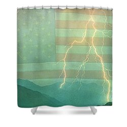 America Walk The Line  Shower Curtain by James BO  Insogna