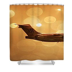 American Airlines Md80  Shower Curtain by Aaron Berg