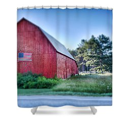 Shower Curtain featuring the photograph American Barn by Sebastian Musial