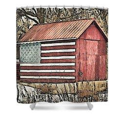 American Barn Shower Curtain by Trish Tritz