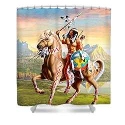 American Brave Shower Curtain by Adrian Cherterman
