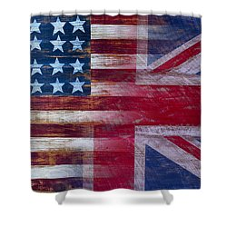 American British Flag Shower Curtain by Garry Gay