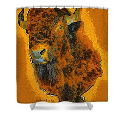 American Buffalo Shower Curtain by Barbara Snyder