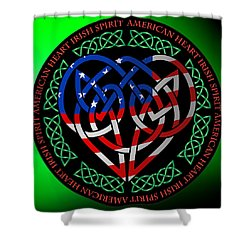 Shower Curtain featuring the digital art American Celtic Heart by Ireland Calling