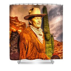 American Cinema Icons - The Duke Shower Curtain