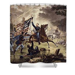 American Civil War General   Philip Kearny Shower Curtain by American School