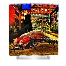 American Cockroach Shower Curtain by Bob Orsillo