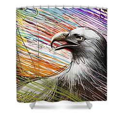 American Eagle Shower Curtain by Peter Awax