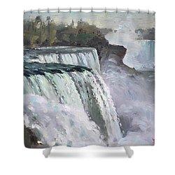 American Falls Niagara Shower Curtain by Ylli Haruni