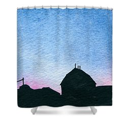 American Farm #1 Silhouette Shower Curtain