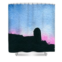 American Farm #2 Silhouette Shower Curtain