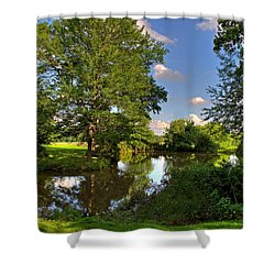 American Farm Pond Shower Curtain