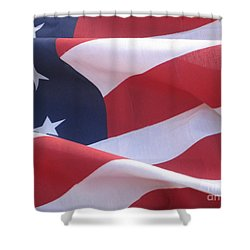 Shower Curtain featuring the photograph American Flag   by Chrisann Ellis