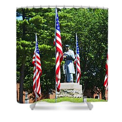 American Flag - Civil War Memorial -  Luther Fine Art Shower Curtain by Luther Fine Art