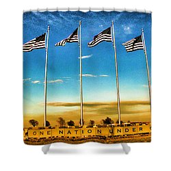 American Flag - Independence Day Shower Curtain by Luther Fine Art