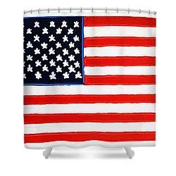 American Flag Shower Curtain by Matthew Brzostoski