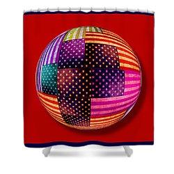 American Flags Orb Shower Curtain by Tony Rubino