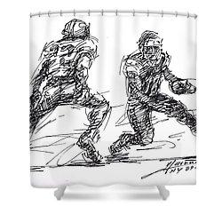 American Football 3 Shower Curtain