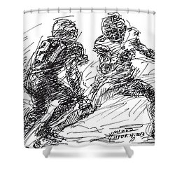 American Football 4 Shower Curtain