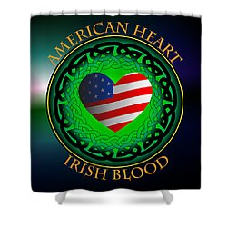 American Heart Irish Blood Shower Curtain