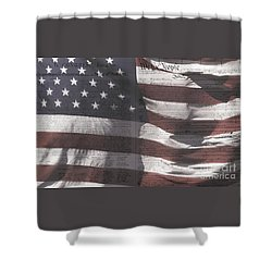 Historical Documents On Us Flag Shower Curtain