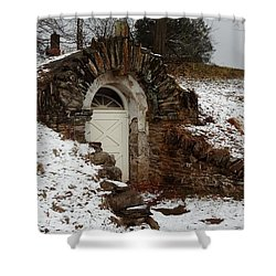 American Hobbit Hole Shower Curtain by Michael Porchik