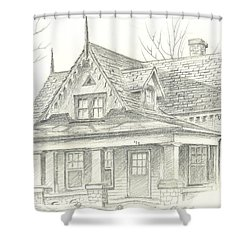 American Home Shower Curtain by Kip DeVore