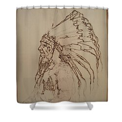 American Horse - Oglala Sioux Chief - 1880 Shower Curtain by Sean Connolly