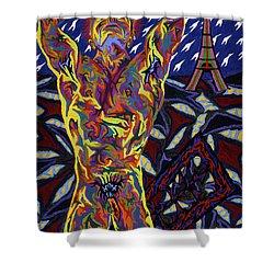 American In Paris Shower Curtain