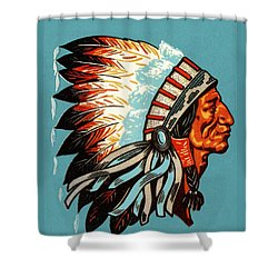 American Indian Chief Profile Shower Curtain
