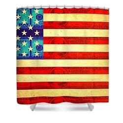 American Money Flag Shower Curtain