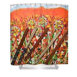 American Mornin' Flower Garden Shower Curtain