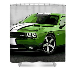 American Muscle Shower Curtain by George Pedro