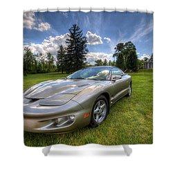 American Musclecar Firebird Shower Curtain