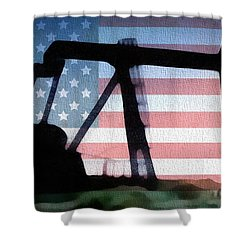 American Oil Rig Shower Curtain by Dan Sproul