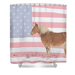 American Palomino Shower Curtain by James BO  Insogna