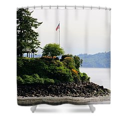 American Pride Shower Curtain by Tap On Photo