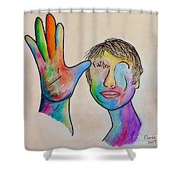 American Sign Language  Father Shower Curtain by Eloise Schneider