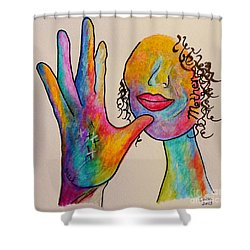 American Sign Language . . .  Mother Shower Curtain