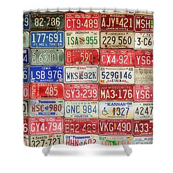 American Transportation Shower Curtain