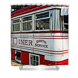 Americana Classic Dinner Booth Service Shower Curtain by Edward Fielding