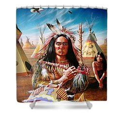 Americans Shower Curtain by Adrian Cherterman