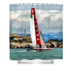 America's Cup And Alcatraz Ll Shower Curtain