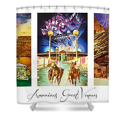 America's Great Venues Shower Curtain by Joshua Morton