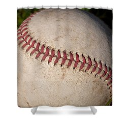 America's Pastime - Baseball Shower Curtain by David Patterson
