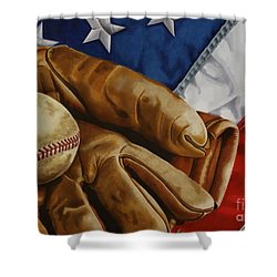 America's Pastime Shower Curtain