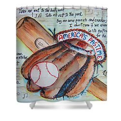 Americas Pastime II Shower Curtain